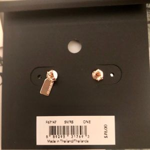 Coach Jewelry - COACH Heart Earrings Rose Gold/Silver W Crystals